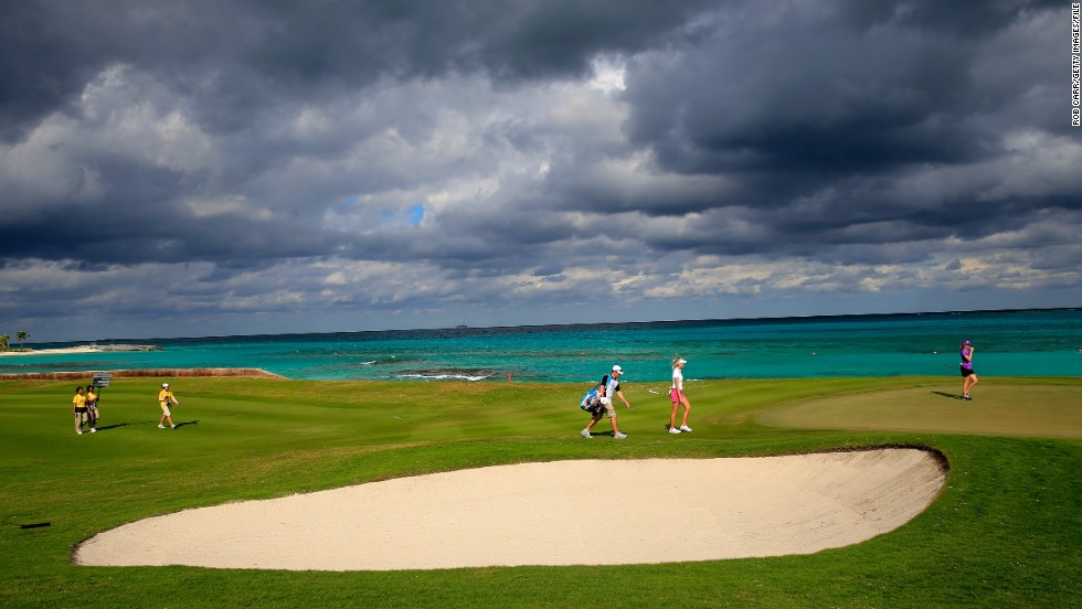 In the Bahamas, the cost would be $5,815 ... not including golf.