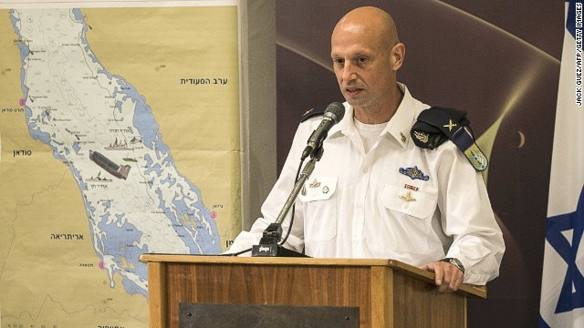 Israeli's Brigadier General Yaron Levi at the Defence Ministery in Tel Aviv on March 5, 2014.