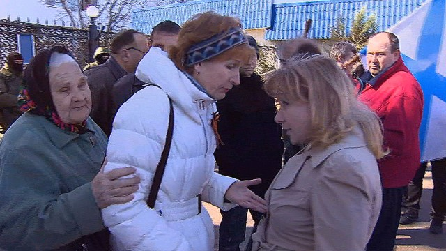 Families denied access to Crimean base