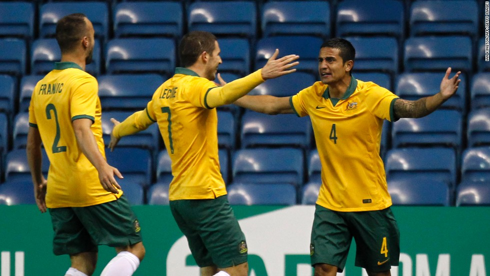 Tim Cahill's sensational volley against the Netherlands was one of the goals of the tournament. The Socceroos led 2-1 before the Dutch hit back to claim a dramatic 3-2 victory.