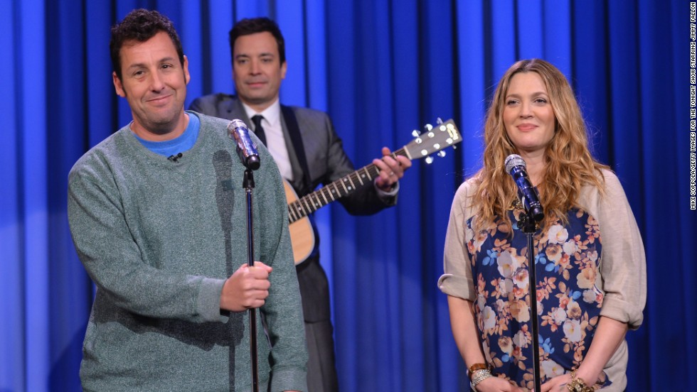 "As a young teen, Drew Barrymore entered rehab and documented her substance abuse in her book ""Little Girl Lost."" She's now a successful producer, wife and mother. Here she performs with Adam Sandler on ""The Tonight Show Starring Jimmy Fallon"" in February."