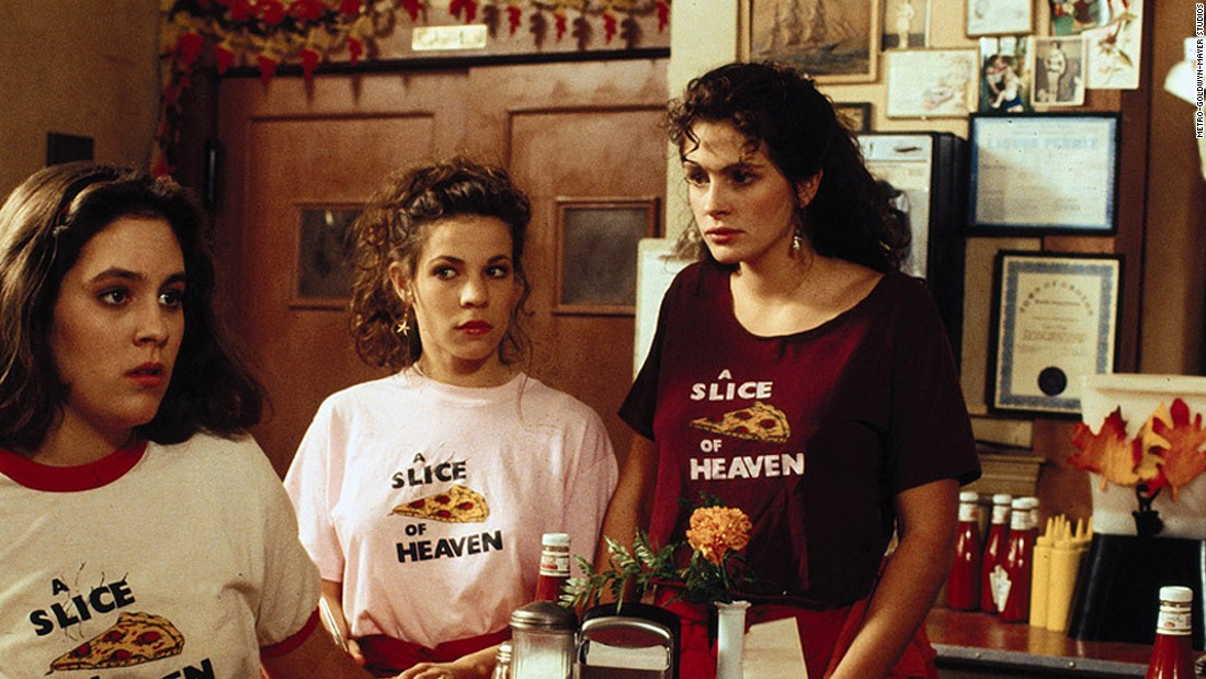 "<strong>""Mystic Pizza"" (1988):</strong>  A young Annabeth Gish, Lili Taylor and Julia Roberts star in this coming of age drama about a group of girls working at a pizza parlor."