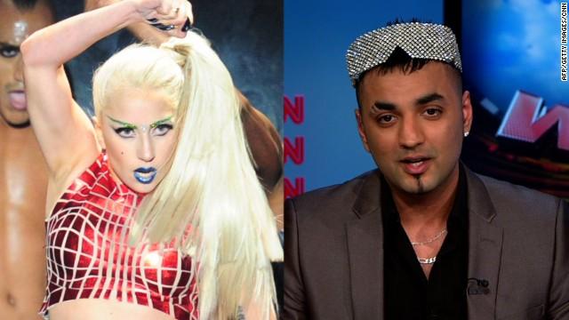U.S. pop star Lady Gaga and British boxer Fes Batista.