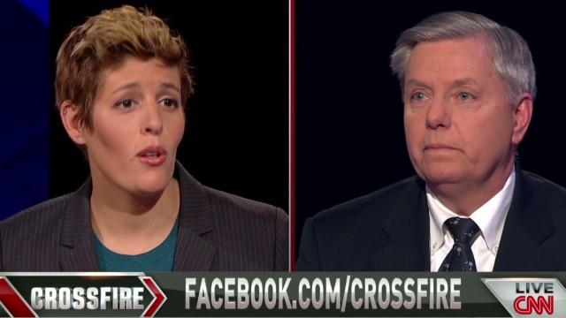 Crossfire Sally Kohn asks Lindsey Graham about undermining President_00020609.jpg