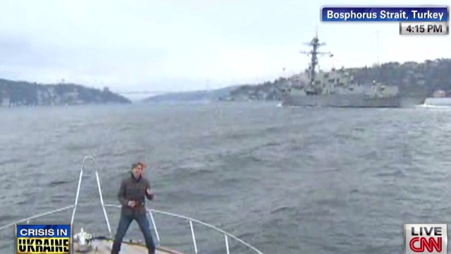 U.S. warship crosses into Black Sea