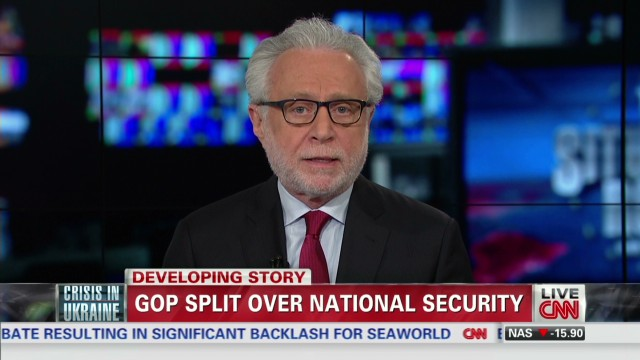 GOP national security policy rift?