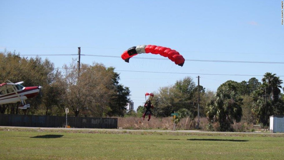 A Cessna collided with a parachute at a small airport in Polk County, Florida, on Saturday, March 8.