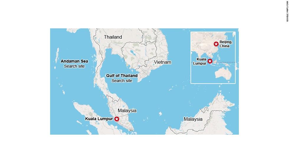 Las pistas del avión de Malaysia Airlines se desvanecen en el mar