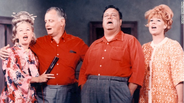 "Sheila MacRae, far right, appears in the ""The Honeymooners"" with Jane Kean, Art Carney and Jackie Gleason."
