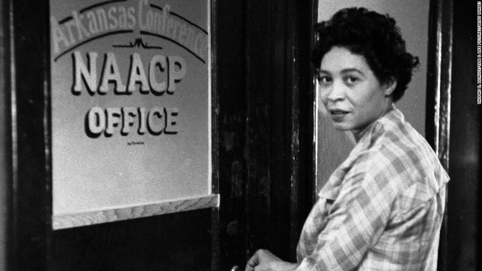 "Civil rights leader and NAACP official <a href=""http://www.pbs.org/independentlens/daisy-bates/"" target=""_blank"">Daisy Bates</a> was a central leader during the ""Little Rock Nine"" case, which sought to integrate the all-white Central High School with nine black students."