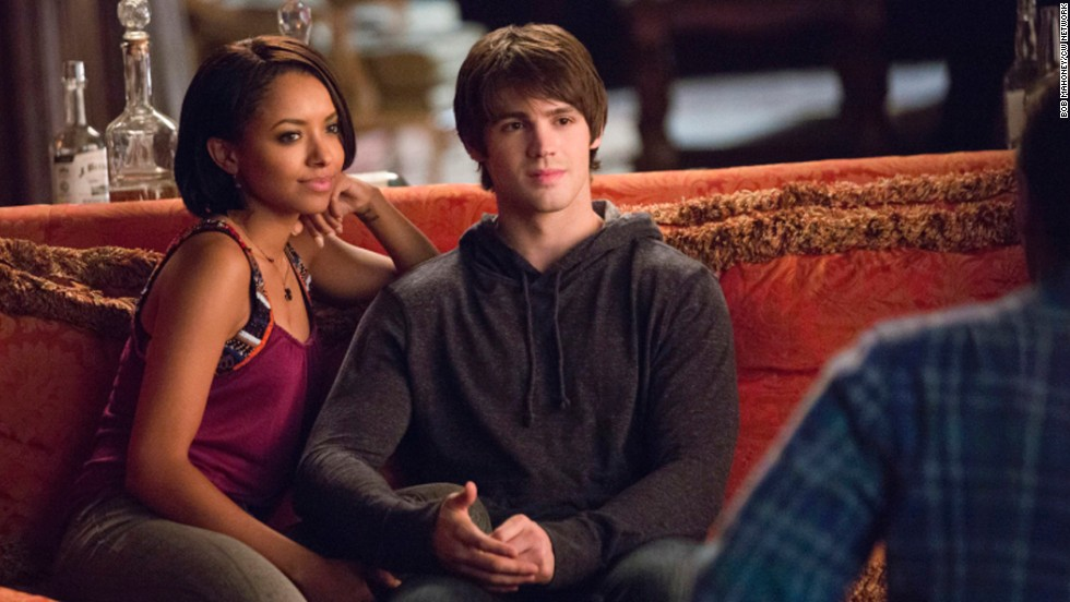"""The Vampire Diaries"" features an interracial relationship between Bonnie, a good witch played by Kat Graham, and Steven R. McQueen's Jeremy."