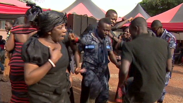 Dancing and celebration at Ghana funerals