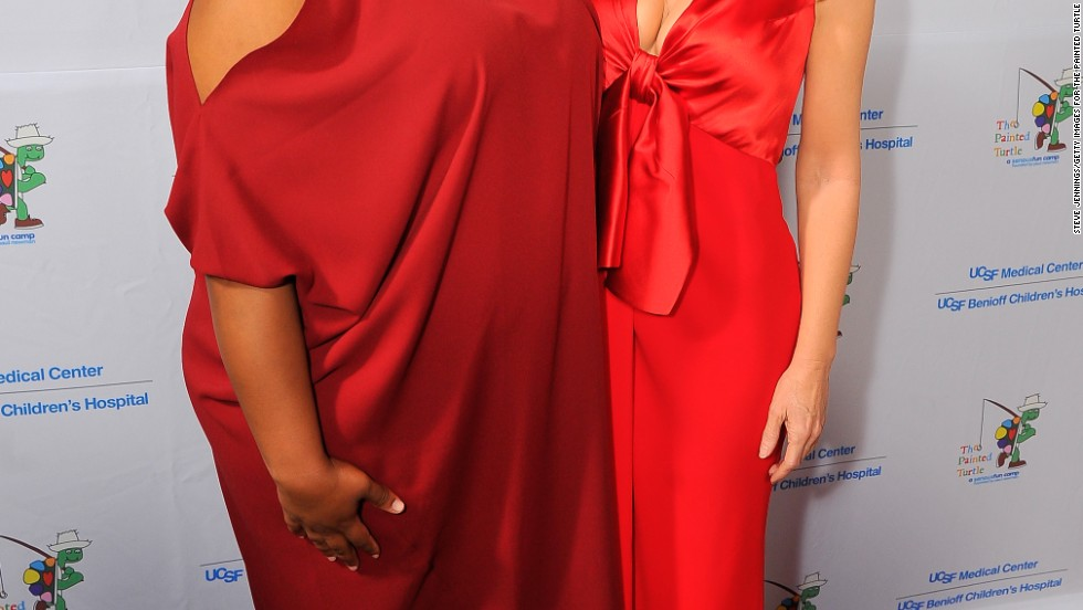 """Glee"" star Amber Riley and Kathy Griffin make a striking pair at a San Francisco event on March 10."