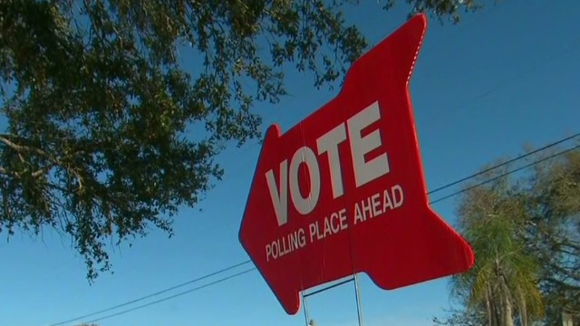 Polls near closing in key Florida race