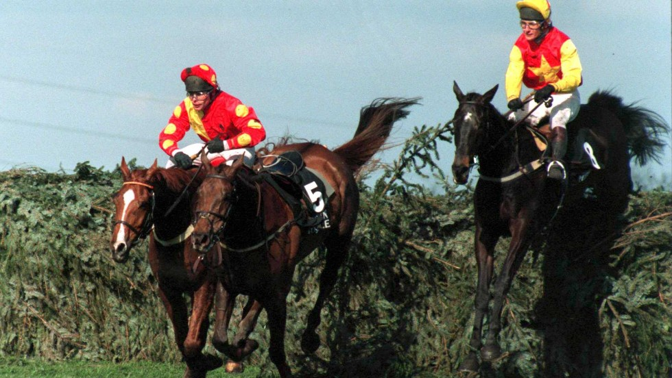 Photography is a complete career change for Dunwoody, who (pictured right) rode Miinnehoma to victory in Britain's prestigious Grand National jumps race in 1994.