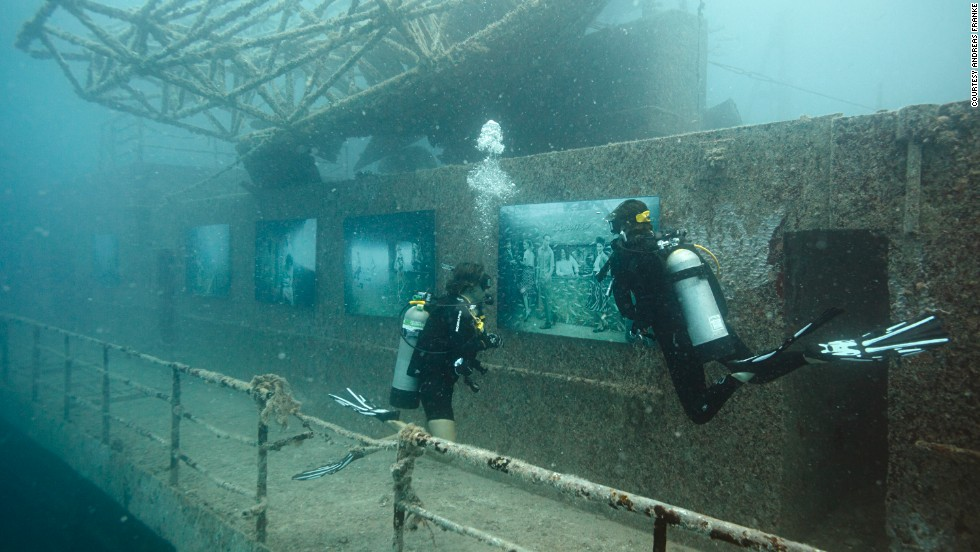 Approximately 10,000 divers visited the Vandenberg underwater exhibit.