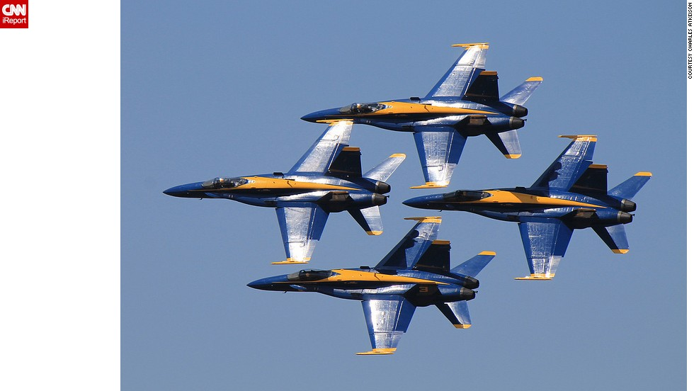 "The U.S. Navy's iconic flying team, the Blue Angels, performed over the weekend for the first time in nearly a year after the team was <a href=""http://www.cnn.com/2013/04/09/us/military-air-shows/"">grounded because of forced spending cuts</a>. If you haven't had a chance to see them in person, watch them fly over the years in these photos from aerospace fans on CNN iReport."