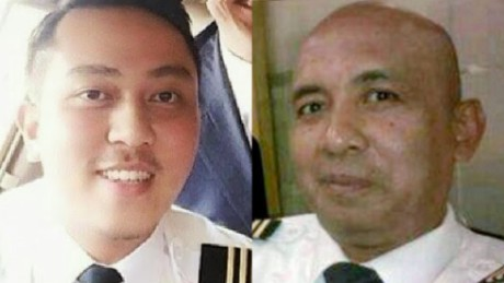 MH370 pilots: First officer Fariq Abdul Hamid (left) and Captain Zaharie Ahmad Shah (right).