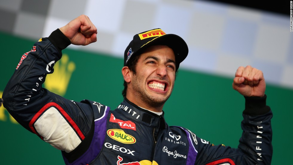 An ecstatic Daniel Ricciardo delighted the home crowd by claiming second place for Red Bull on his debut for the team. But his day was ruined after he was later disqualified for breaching fuel consumptions