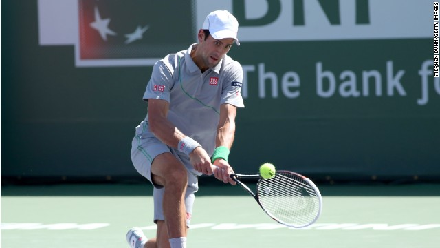 Novak Djokovic came from a set down to defeat Roger Federer at Indian Wells.