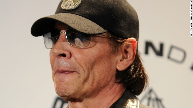 Scott Asheton at the Stooges' 2010 Rock Hall induction.