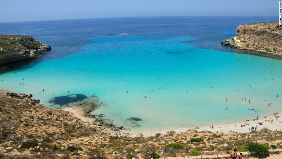 Last year's top-ranked spot, Rabbit Beach on the Sicilian island of Lampedusa, dropped to No. 4 this year.
