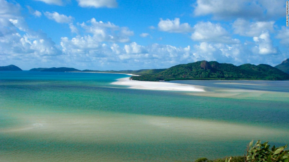 Whitehaven Beach on Australia's Whitsunday Island dropped from No. 3 last year to this year's No. 5 spot.