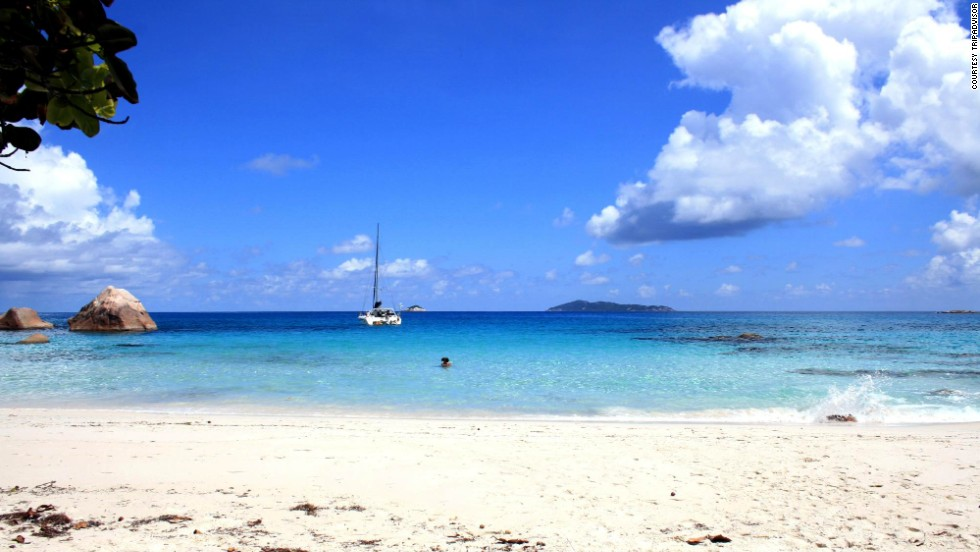 Anse Lazio on Praslin Island in the Seychelles jumped 10 spots, from No. 17 last year to No. 7.