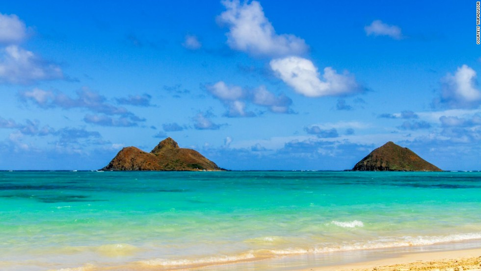 Lanikai Beach in Kailua on Oahu broke into the world's top 10 this year. Last year, the Hawaii beach was No. 5 in the United States, but it didn't make the global list.<br />
