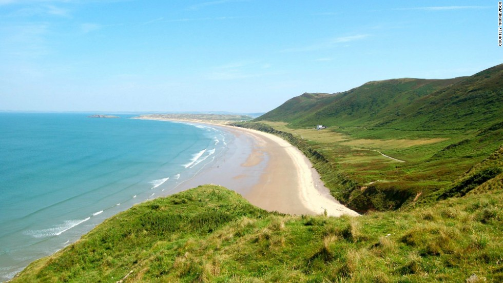 Rhossili Bay in Swansea, Wales, moved up to No. 9 from last year's No. 10 spot. While certainly not the warmest of the world's spectacular beaches, the rugged landscape and sweeping views are undeniably lovely.