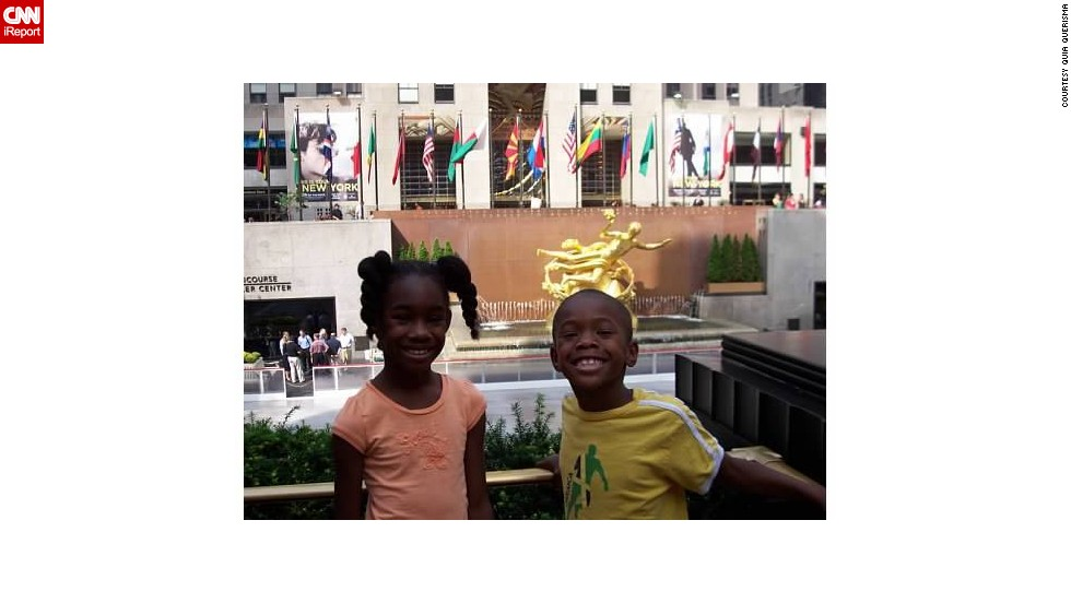"<a href=""http://ireport.cnn.com/docs/DOC-1097158"">Quia Querisma</a> has taken her kids to New York every year since they were babies to see her extended family, This trip, when Quiana was 8 and Brandon was 6, was the first time they were able to remember all the tourist sites."