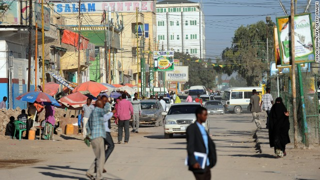 There's only one well-paved street in Hargeisa.