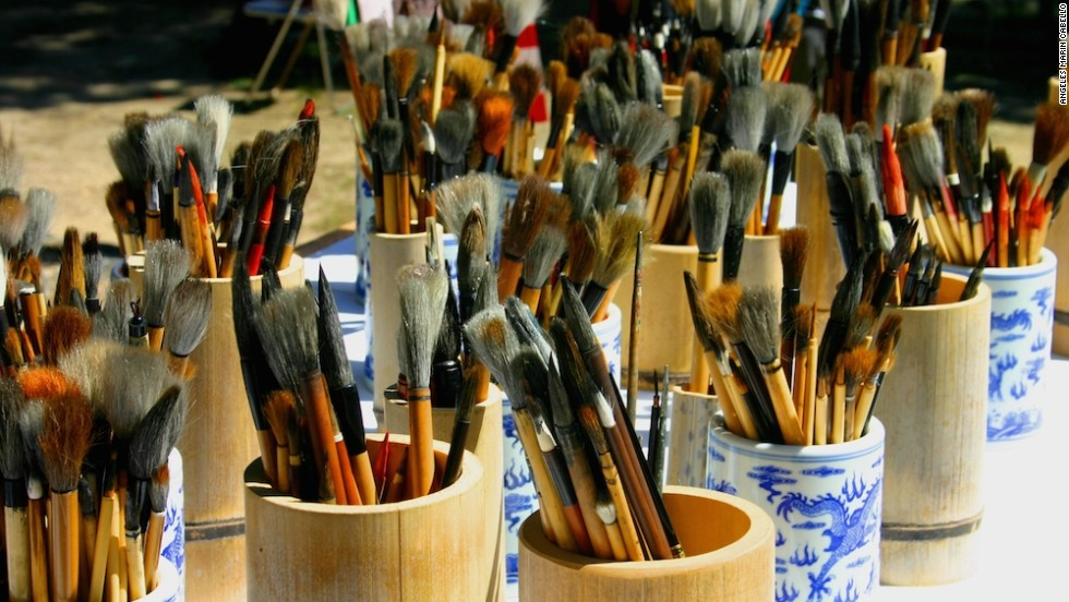 Kumano turns out a staggering 15 million brushes a year -- 80% of Japan's total brush production. Most are used for painting, calligraphy and makeup.