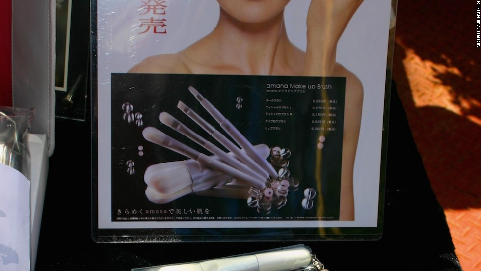 Faced with declining demand for calligraphy brushes, many Kumano companies have begun producing high-end makeup brushes.