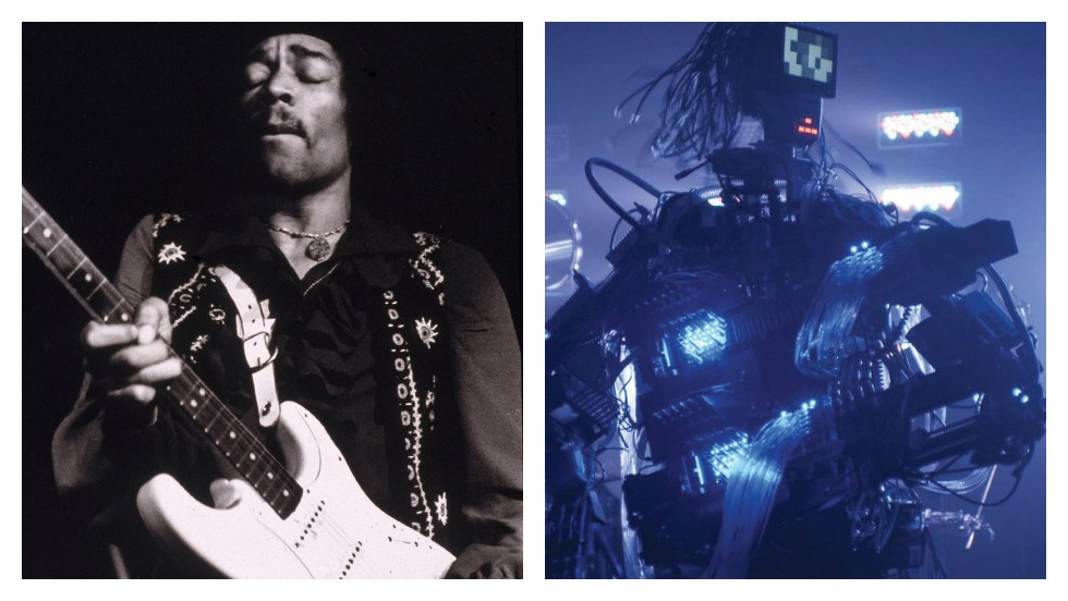 "<strong>ROUND TEN: GUITAR PLAYING</strong><br /><br />The <a href=""http://edition.cnn.com/2014/03/14/tech/meet-the-robot-guitarist/index.html?iref=allsearch"">robot guitarist</a> on the right has 78 fingers, 12 picks, and can play one note every 8 milliseconds.<br /><br />The one on the left is Jimi Hendrix. It doesn't matter how skilled a musician you are, nothing beats charisma.<br /><br />This one is Jimi's.<br /><br /><em><strong>SCORE: Machine 5, Man 6</em></strong><br /><br />[Images: Hulton Archive/Getty Images; Yoshikazu Tsuno/AFP/Getty Images]"