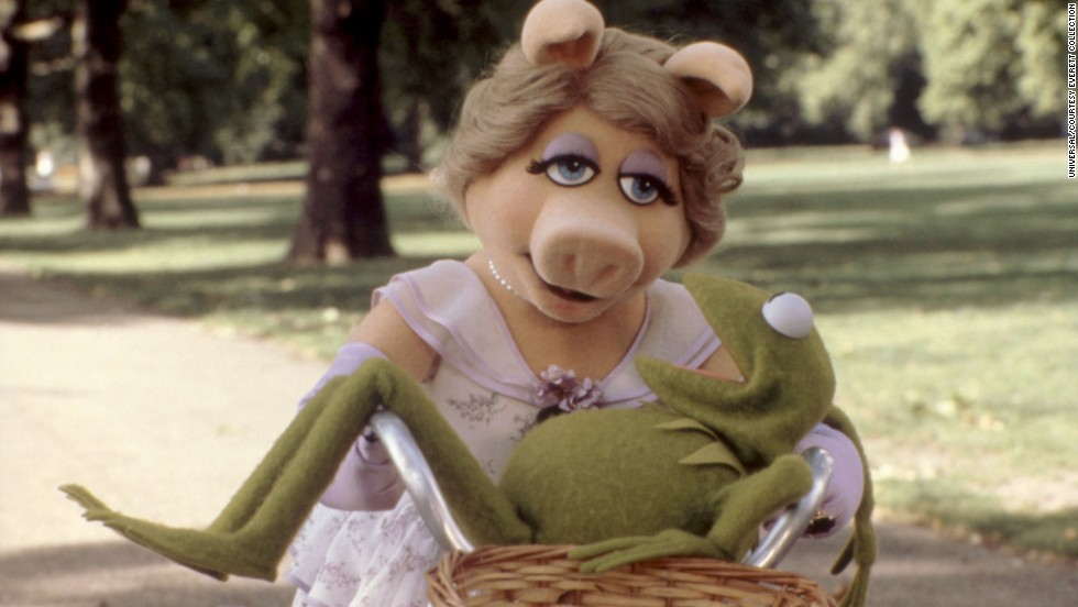"Kermit may not have wanted to admit it, but he and Piggy had a clear bond, as was evident in 1981's ""The Great Muppet Caper."" Despite their turbulent romantic relationship, they never let it affect their work. True professionals!"