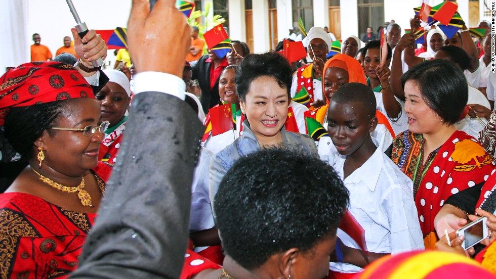 Peng frequently accompanies her husband on official trips, but also campaigns her own causes. She is a World Health Organisation ambassador, promoting awareness of HIV/AIDS and tuberculosis. She recently appeared in a short promotional film where she holds and plays with Chinese children infected with HIV, combating discrimination against patients.