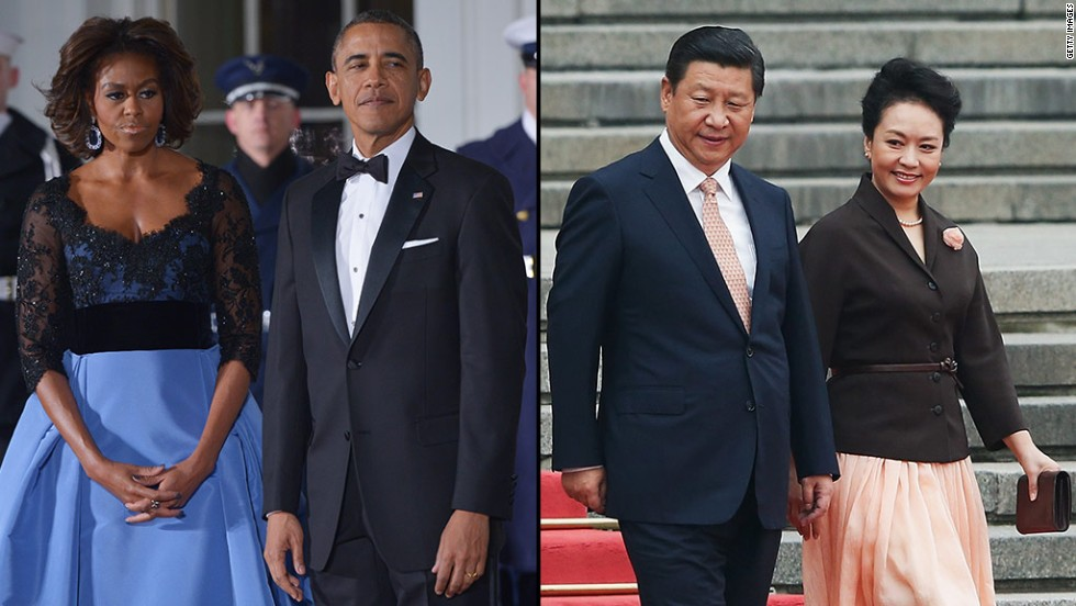 The first ladies of the two most powerful countries in the world are spending a day together in Beijing. Both women are uniquely admired for their sense of style and established careers before their husbands became presidents.