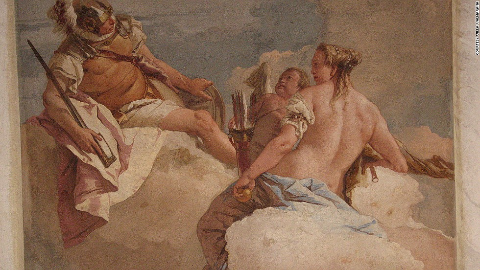 Villa Valmarana's main selling points include baroque frescoes painted by  father and son duo Gianbattista and Giandomenico Tiepolo.