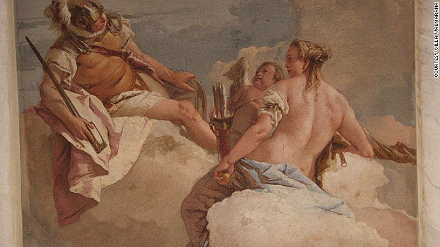 Baroque stars Gianbattista and Giandomenico Tiepolo went to town on the decor at Villa Valmarana.