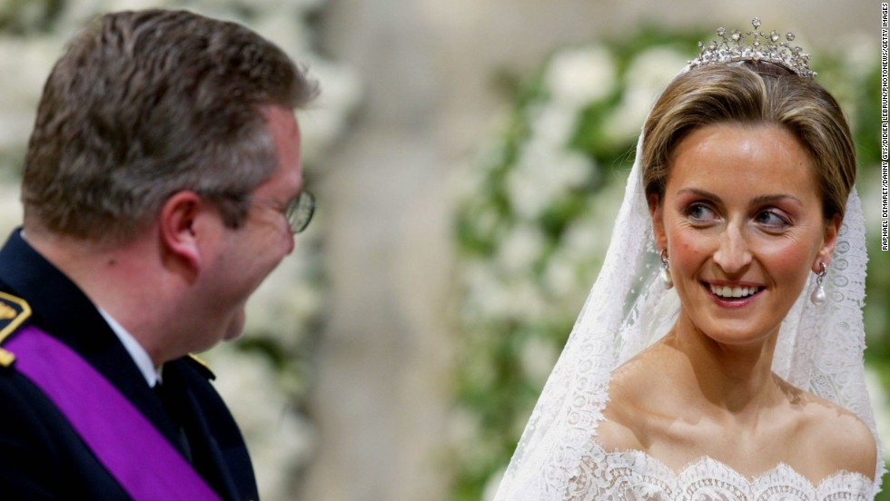 Wedding of Prince Laurent of Belgium and Claire Coombs on April 12, 2003 in Brussels, Belgium.