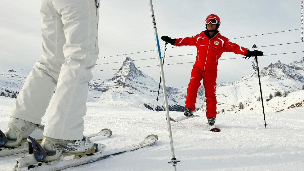Visit Zermatt in<strong> Switzerland </strong>to find some of the best ski slopes. It's where some of the world's national ski teams train. According to the OECD, the Swiss are very satisfied with their lives -- they rank at the top in subjective well-being as well as jobs and earnings, and come in at number six on the OECD index.