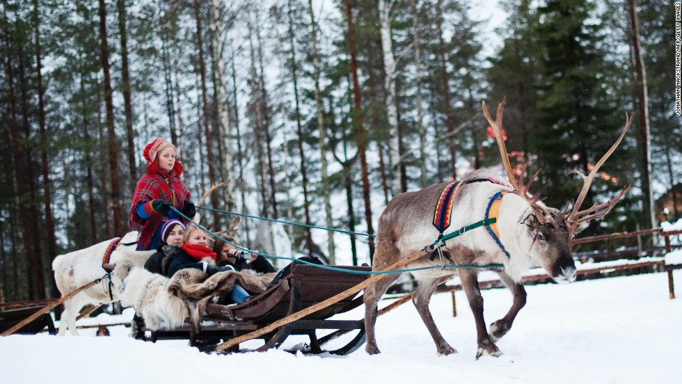 "<strong>Finland</strong>, the eight happiest industrialized nation, is home to Santa Claus. You can ride a reindeer sled in the <a href=""http://www.santaclausvillage.info/"" target=""_blank"">Santa Claus Village</a>, an amusement park near Rovaniemi in the Lapland region. The organization says Finland ranks at the top in education and skills, a category often highlighted as one of the most important to people surveyed.<br />"