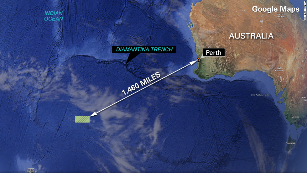 Satélites detectaron posibles restos en un remoto lugar en el Océano Índico.
