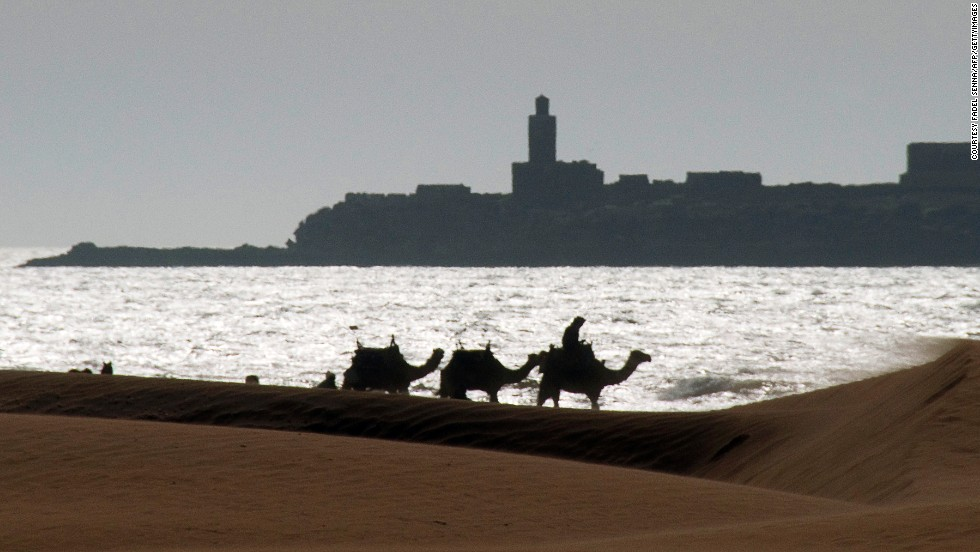 Essaouira can be extremely windy, which makes it an ideal spot for water sports.