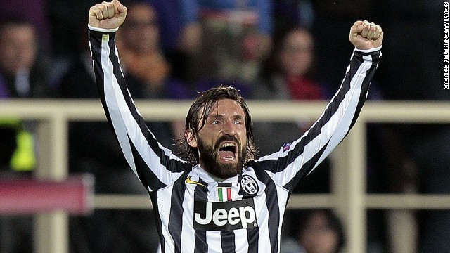 Andrea Pirlo's free-kick sent Italian champions Juventus into the quarterfinals of the Europa League.