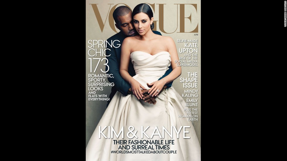 "Leibovitz took this photo of Kim Kardashian and Kanye West for Vogue's April cover in 2014. Of the Kardashians, the photographer tells CNN ""I don't know what's real and what's not on them. On the other hand, the audience isn't stupid. We know."""
