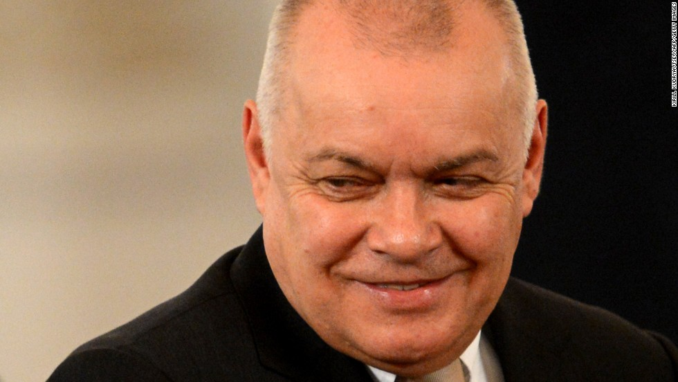 Dmitry Kiselyov, the head of media conglomerate Russia Today and one of the most influential pro-Kremlin journalists in Russia. Known for his highly controversial views.