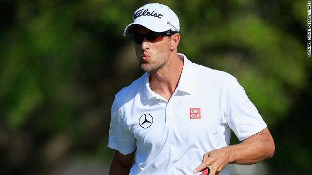Adam Scott started Saturday seven shots clear at the Arnold Palmer Invitational but ended it three ahead of Keegan Bradley.