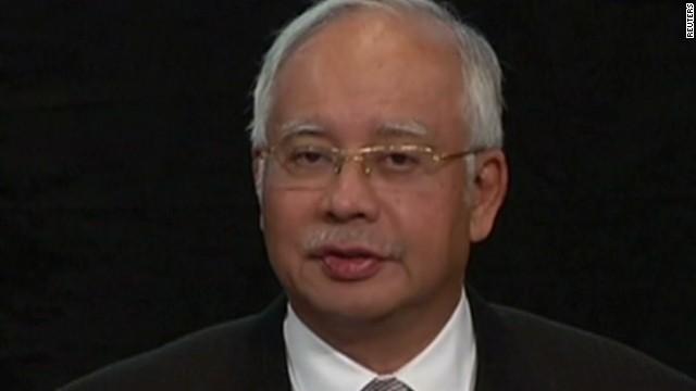 nr malaysia prime minister razak plane presser_00003019.jpg